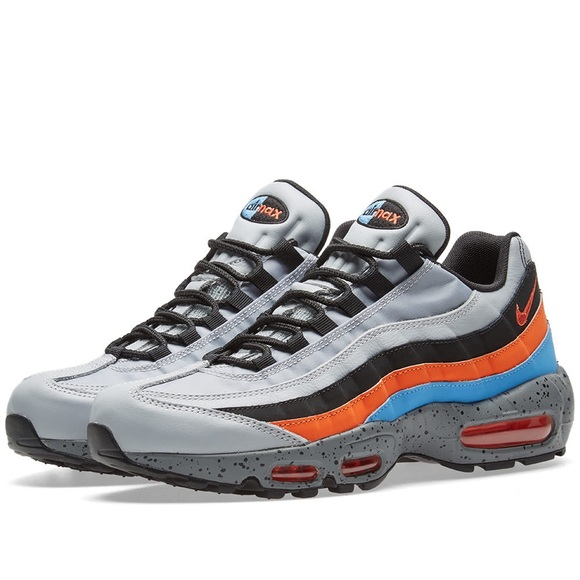 save off 88886 9c09b Nike Air Max 95 Premium Wolf Grey, Orange & Blue